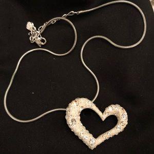 Swarovski 3D heart necklace